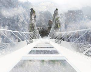 Ponte Cina vetro apertura turisti
