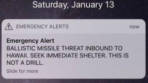 Attacco missilistico Hawaii: paura infondata