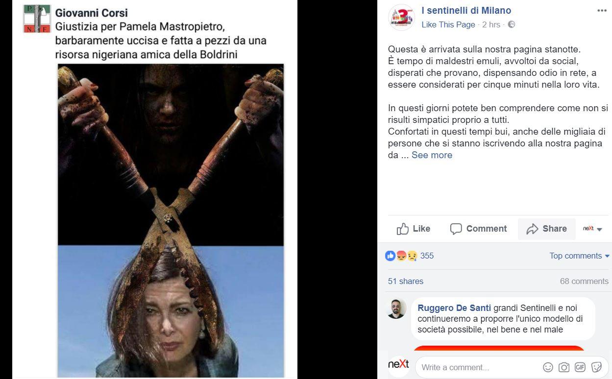 fotomontaggio-Boldrini-Paladini-minacciato