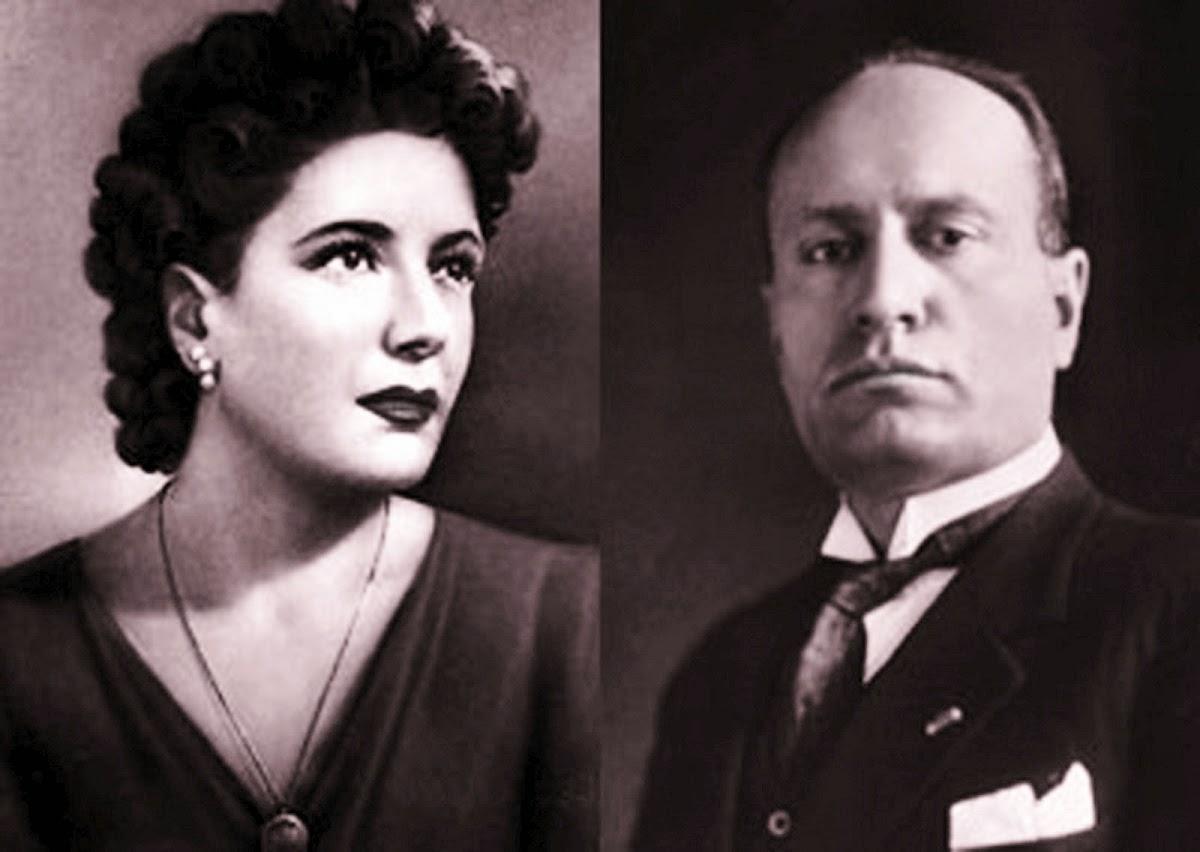 Benito Mussolini e Claretta Petacci: messa a Giulino