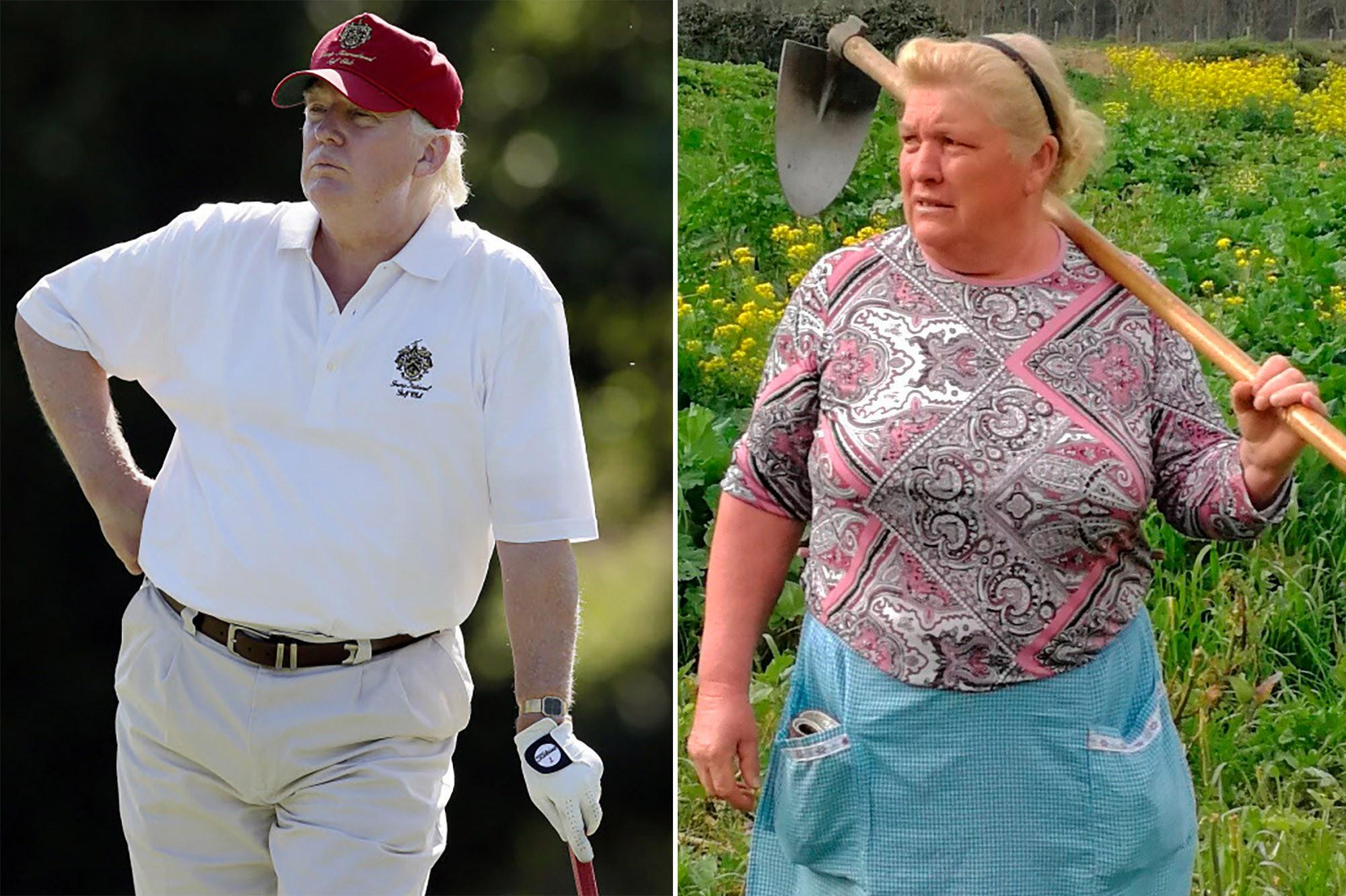 Dolores Antelo sosia di Donald Trump: foto virale