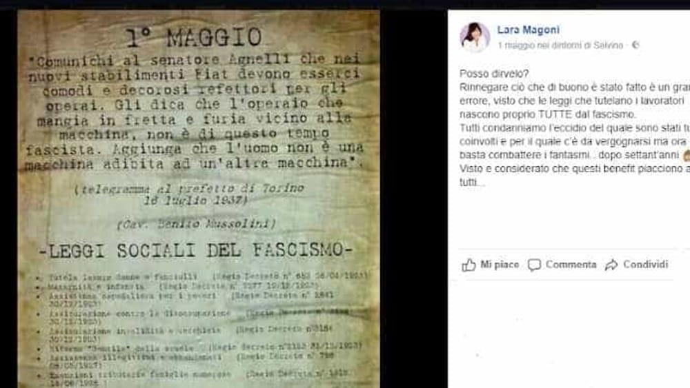 Primo maggio, il post di Lara Magoni solleva polemiche