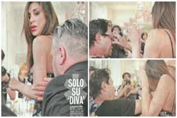 Furia Belen Rodriguez, picchia un paparazzo a un evento a Milano