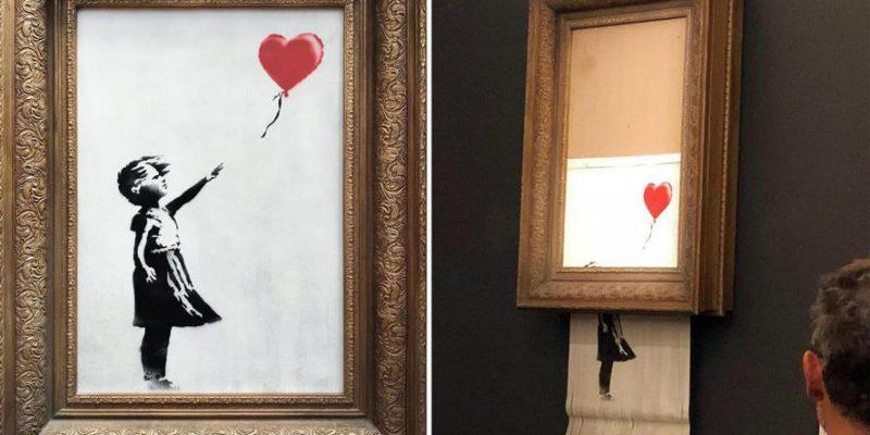 Banksy spiega com'è avvenuta la distruzione del suo quadro