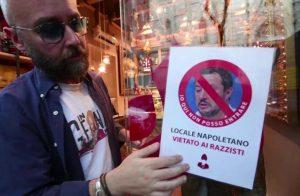 """Napoli: """"Qui Salvini non entra"""", locale off limits per il ministro"""