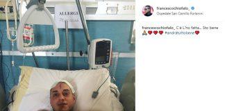 Francesco Chiofalo la foto su Instagram dopo l'intervento
