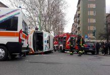 Incidente Milano coinvolta un'ambulanza, tre feriti