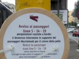 Cartello Atac fake, via Prenestina