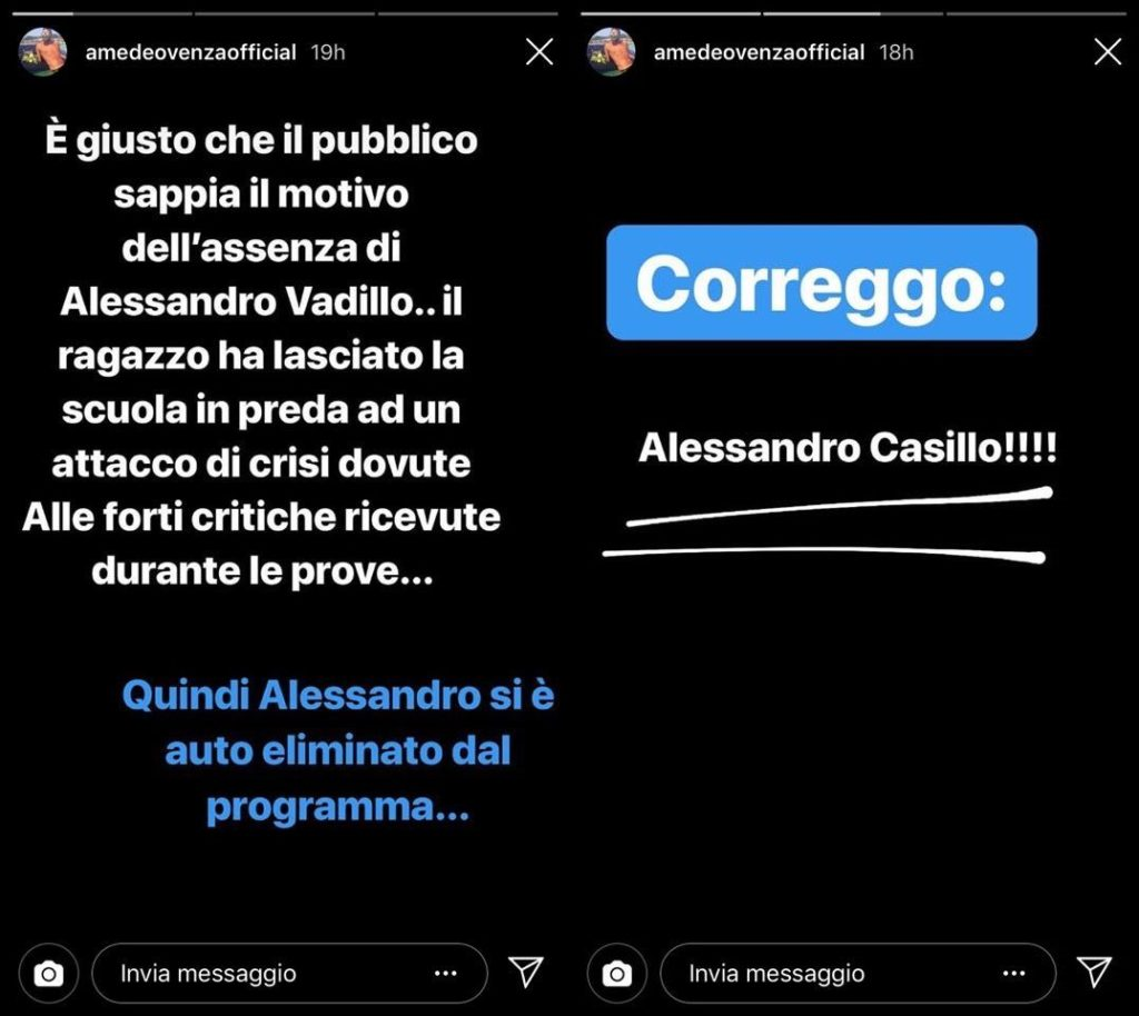 ig stories amedeo venza